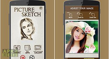 Pencil camera face sketch app