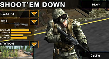 Shoot`em down: shooting game