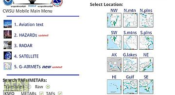Aviation weather from noaa/nws