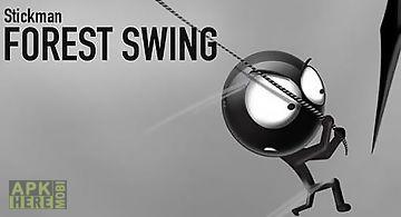 Stickman forest swing