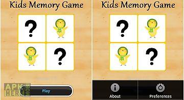 Kids memory card game