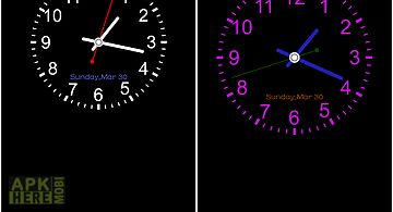Analog clock -7 live wallpaper for Android free download at