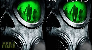 Army: gas mask Live Wallpaper