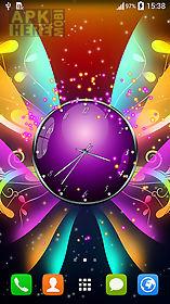 clock with butterflies live wallpaper