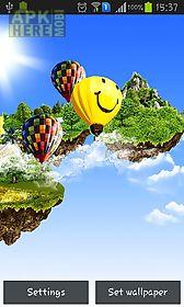 flying islands live wallpaper