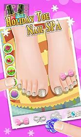 holiday toe nails spa