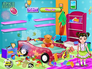 kids house clean games