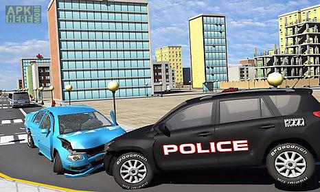 city theft auto vs police car