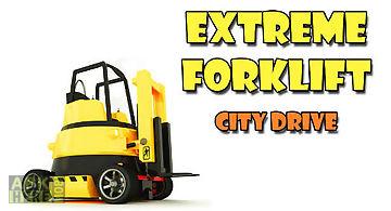 Extreme forklift: city drive. da..
