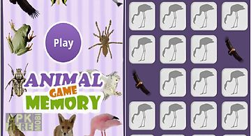The animals memory game