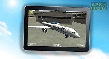 Airplane parking simulator