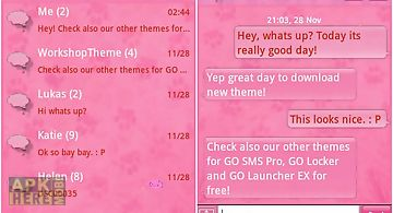 Pink 2 go sms pro theme