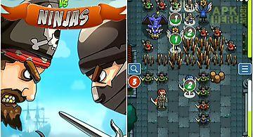 Pirates vs ninjas: 2 player game