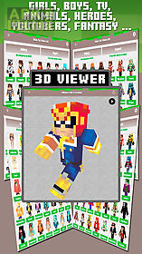 skins for minecraft pe & pc