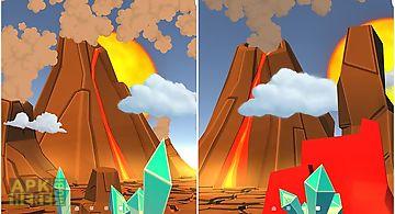 Cartoon volcano 3d Live Wallpape..