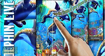Tap screen dolphins swim live fr..