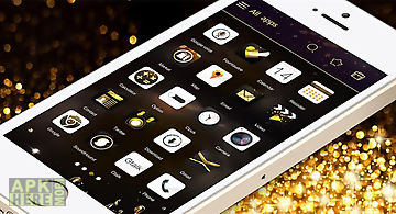 Gold rush go launcher theme
