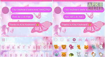 Pink butterfly ikeyboard theme