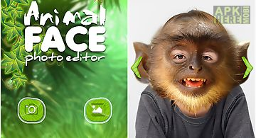 Animal face photo montage