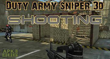 Duty army sniper 3d: shooting