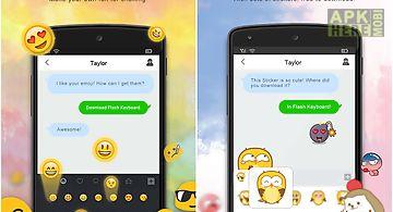 Flash keyboard - emojis & more