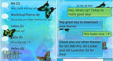 Blue butterfly theme go sms
