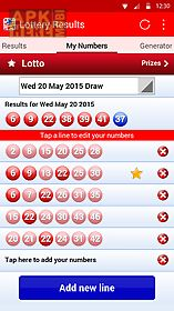 Lottery results for Android free download at Apk Here store