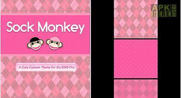 Sock monkey pink go sms theme