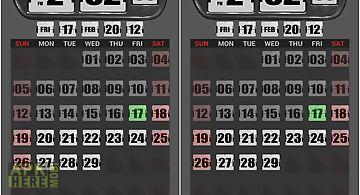 3d flip clock widgets white