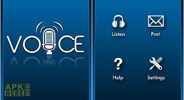 Facebook voice notifications