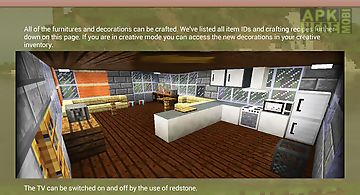 Decoration furniture mod mcpe