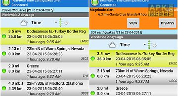 Earthquakes tracker