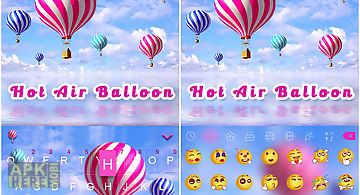 Hot air balloon kika keyboard