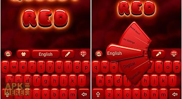 Glossy red go keyboard theme