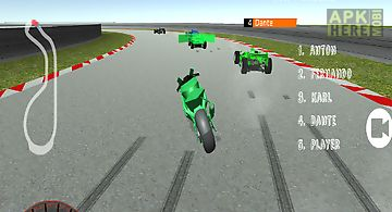 Motorcycle formula racing 3d
