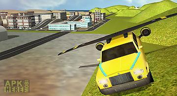 Flying limo car simulator