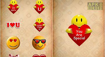 Love sticker for valentine day