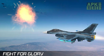 Real jet fighter air battle