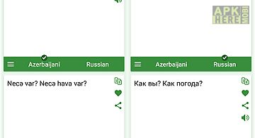Azerbaijani - russian translat