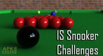 International snooker challenges