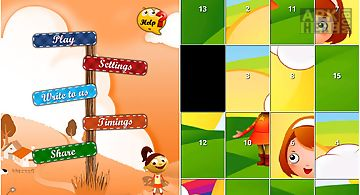 Sliding cartoon puzzle games