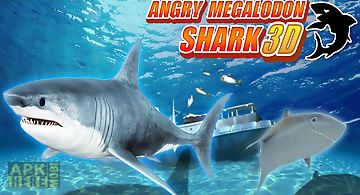 Angry megalodon shark 3d
