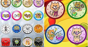 Cat analog clocks widget free