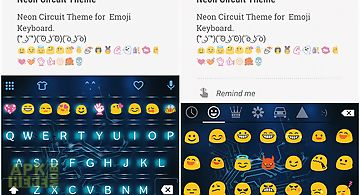 Neon circuit emoji keyboard