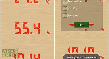 Temperature humidity barometef
