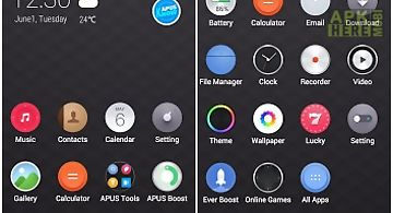 Pinko theme for apus launcher