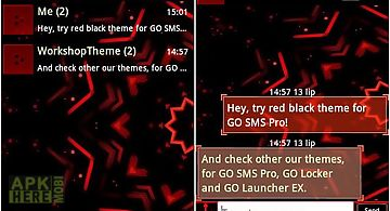 Go sms theme black minimal for Android free download at Apk