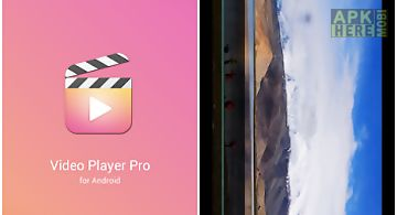 Video player pro for android