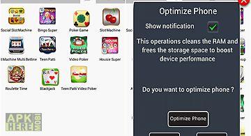 App launcher with phone optimiza..