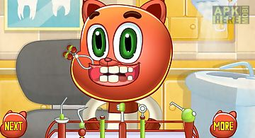 Cat boy at dentist